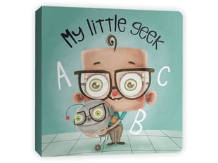 "Front cover of illustrated book, ""My Little Geek by Andrew & Sarah Spear"""