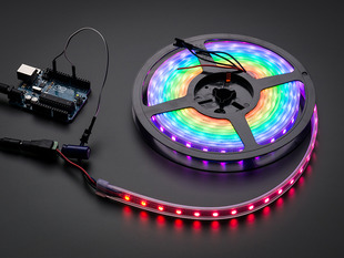 Adafruit NeoPixel Digital RGB LED Strip - Black 60 LED - BLACK