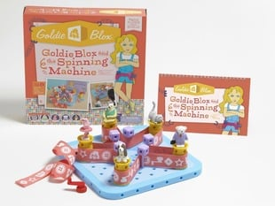 Goldie Blox and the Spinning Machine with toy and packaging