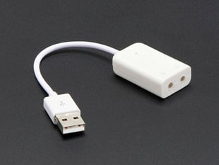USB Audio Adapter - Works with Raspberry Pi