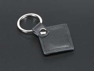 13.56MHz RFID/NFC Leather Keychain Fob - Classic 1K