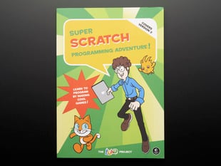 "front cover of technical book, ""Super Scratch Programming Adventure!"""