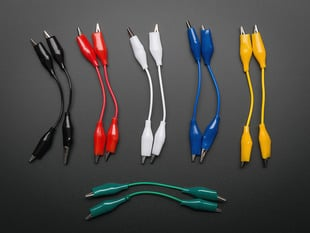 Short Wire Alligator Clip Test Lead (set of 12)