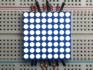 "Small 1.2"" 8x8 Ultra Bright White LED Matrix - KWM-30881CWB"