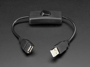Short USB Extender Cable with Switch in center