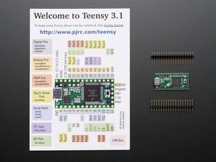 Teensy 3.1 + header