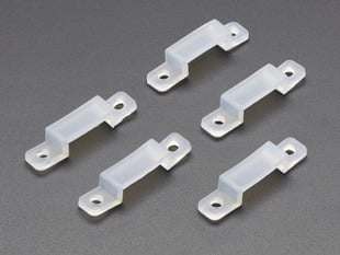 Five silicone mounting clips