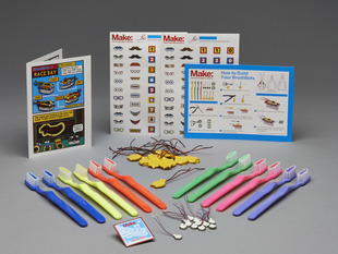 Brushbot Party Pack with many toothbrushes, motors, batteries and stickers
