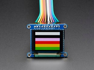 "OLED Breakout Board - 16-bit Color 1.27"" w/microSD holder"