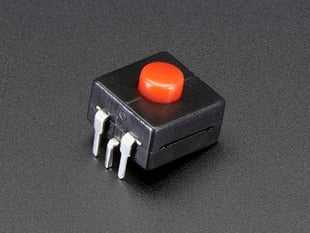 Angled shot of red on-off power button