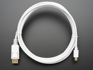 Mini DisplayPort to DisplayPort Cable - 10 ft/3 meters - White