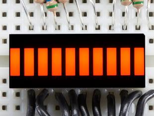 Amber Lit up 10 Segment Light Bar Graph LED Display