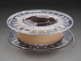 Spool of PLA/PHA bronzeFill filament for 3D printer - bronze color with 1.75mm Diameter.