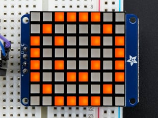 "Small 1.2"" 8x8 Ultra Bright Square Amber LED Matrix + Backpack"
