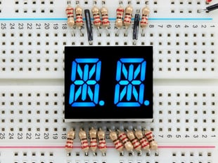 Dual Alphanumeric Display - Blue 0.54