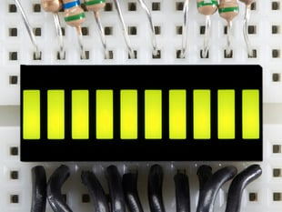 10 Segment Light Bar Graph LED Display - Yellow-Green