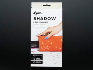 Lumi Shadow Printing Kit packaging front with examples