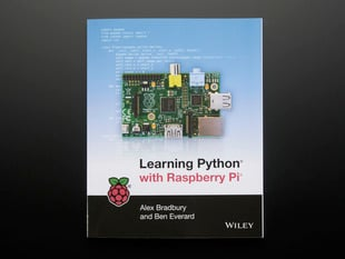 "Front cover of technical book, ""Learning Python with Raspberry Pi by Alex Bradbury"""