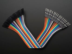 Premium Female/Male 'Extension' Jumper Wires - 20 x 6""