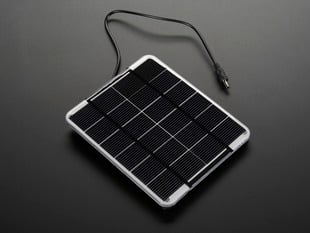 Epoxy-coated rectangular solar panel with DC power plug