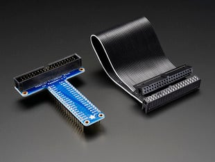 Assembled Pi T-Cobbler Plus - GPIO Breakout - for RasPi A+/B+/Pi 2/Pi 3