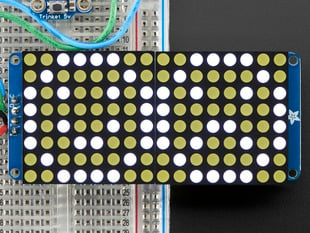 "16x8 1.2"" LED Matrix + Backpack - Ultra Bright Round White LEDs"