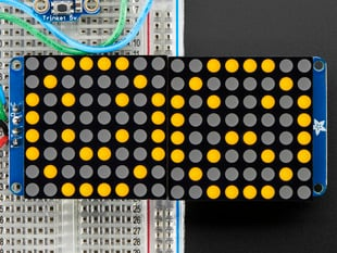 "16x8 1.2"" LED Matrix + Backpack-Ultra Bright Round Orange LEDs"