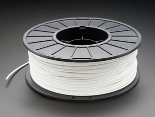 Spool of ABS Filament for 3D Printers - white color with 3mm Diameter.