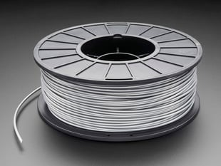 ABS Filament for 3D Printers - 3mm Diameter - Silver - 1KG