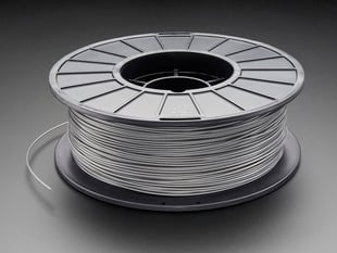 PLA Filament for 3D Printers - 1.75mm Diameter - 1KG - Silver