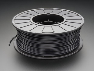 Spool of PLA filament for 3D printers - black color with 3mm Diameter.