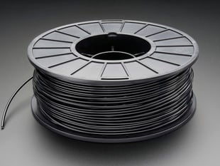 Spool of ABS Filament for 3D Printers - black color with 1.75mm Diameter.