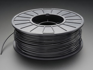 Spool of ABS Filament for 3D Printers - black color with 3mm Diameter.