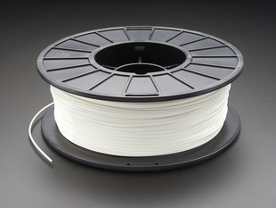 PLA/PHA Filament for 3D Printers - 1.75mm Diameter - White - 1KG