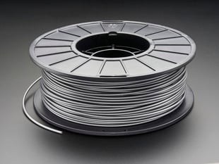 Spool of PLA filament for 3D printers - silver color with 3mm Diameter.