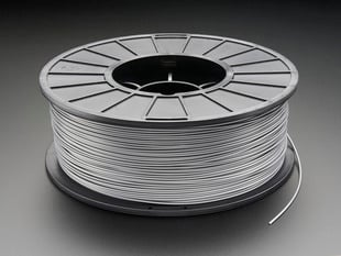 Spool of ABS Filament for 3D Printers - silver color with 1.75 mm Diameter.