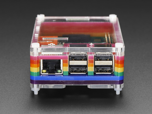 Rainbow Pibow - Enclosure for Raspberry Pi 2 and Model B+
