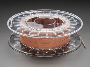 Spool of PLA/PHA copperFill filament for 3D printer - copper color with 1.75mm Diameter.