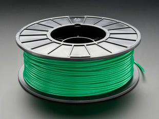 Spool of PLA filament for 3D printers - green color with 3mm Diameter.