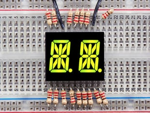 Dual Alphanumeric Display - Yellow-Green 0.54