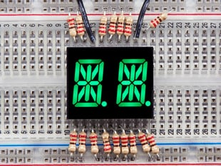 Dual Alphanumeric Display - Green 0.54