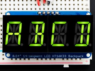 Quad Alphanumeric Display -Yellow-Green 0.54