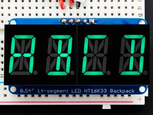 Quad Alphanumeric Display - Pure Green 0.54