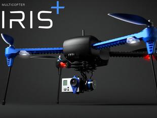 Glamor photo of IRIS+ quad-copter.