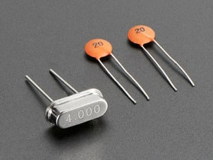 4 MHz Crystal + 20pF capacitors