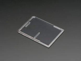 Angled shot of clear Pi Model B+ / Pi 2 / Pi 3 Case Lid.