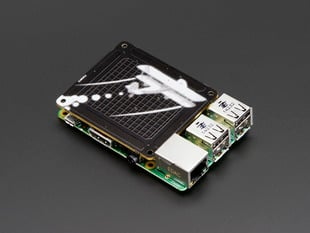 Angled shot of Pimoroni Skywriter HAT - 3D Gesture Sensor for Raspberry Pi on a Pi 3.