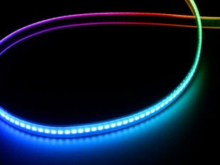 Curved NeoPixel LED strip with each LED a different color
