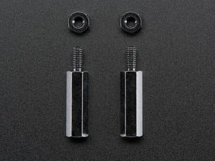 Brass M2.5 Standoffs 16mm tall - Black Plated - Pack of 2