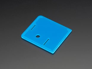 Angled shot of blue lid for Raspberry Pi Model A+ Case.